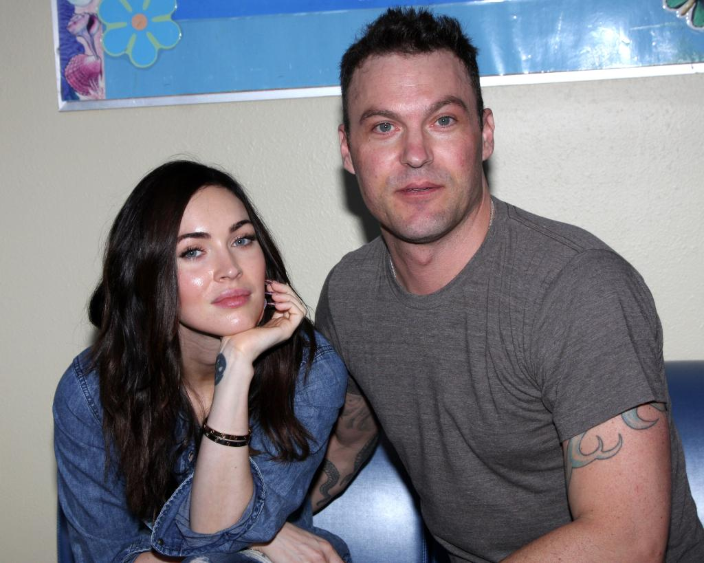 Megan Fox and Brian Austin Visit Harbor-ULCA Medical Center Visit