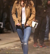 Megan Fox and Stephen Amell Film Teenage Mutant Ninja Turtles 2 - April 30