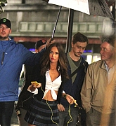 Megan Fox Films Teenage Mutant Ninja Turtles 2 on June 2, 2015