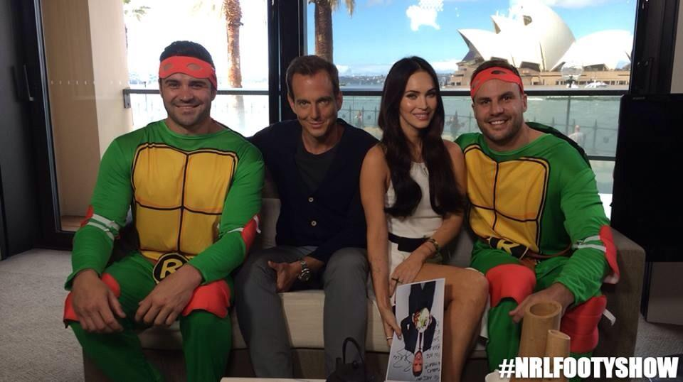 Megan Fox on NRL Footy Show Thursday